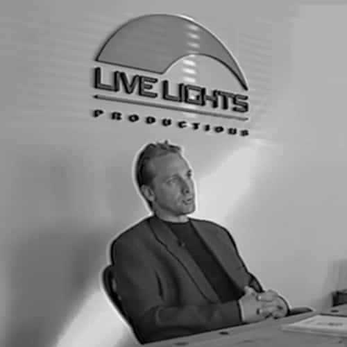 Dave Sutherland with the refreshed Live Lights logo.