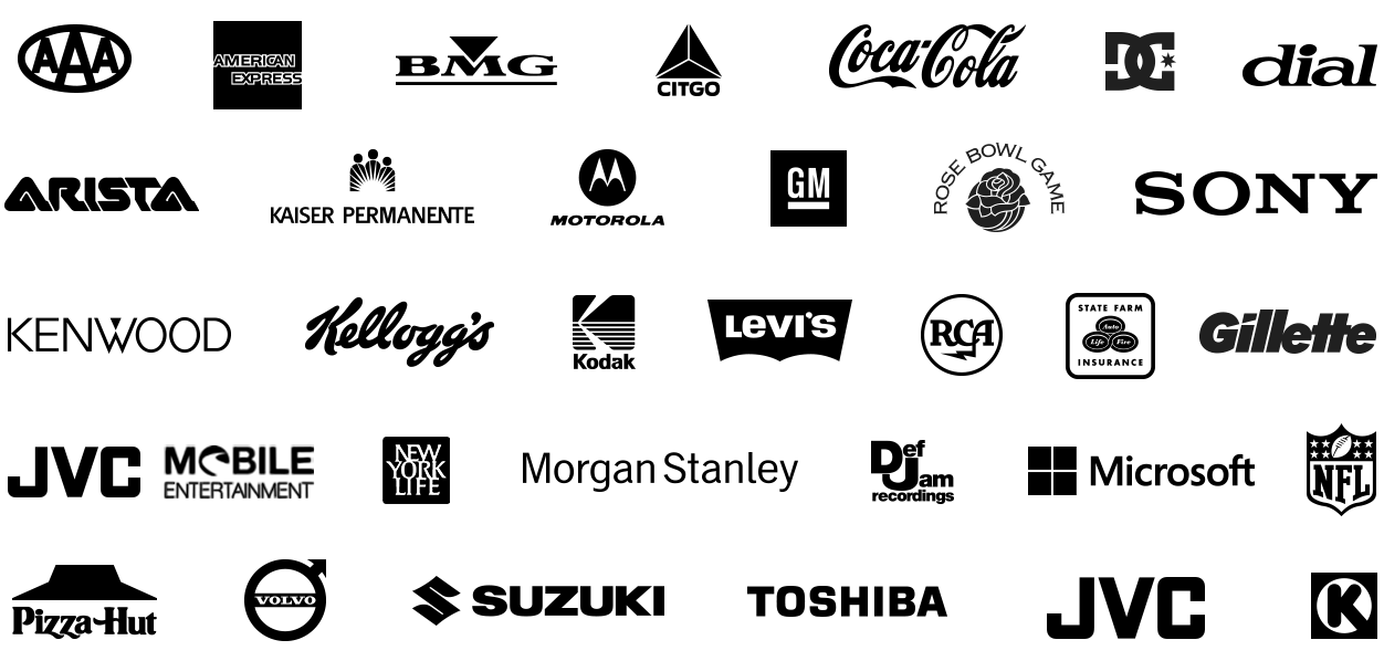 Logos from projects Live Lights has been involved with.